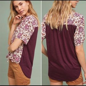 ✨Anthropologie Porridge Floral Button Down Top